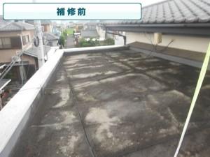 陸屋根部(RC/モルタル)→屋根組みを増設